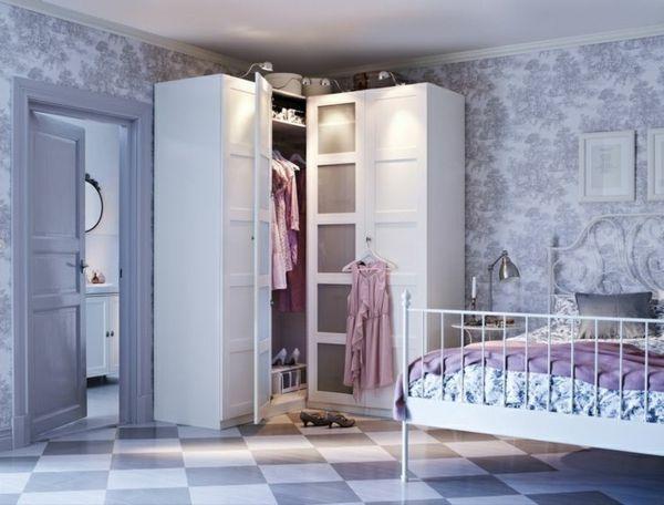 Eckkleiderschrank - praktische und moderne Interieur Lösung