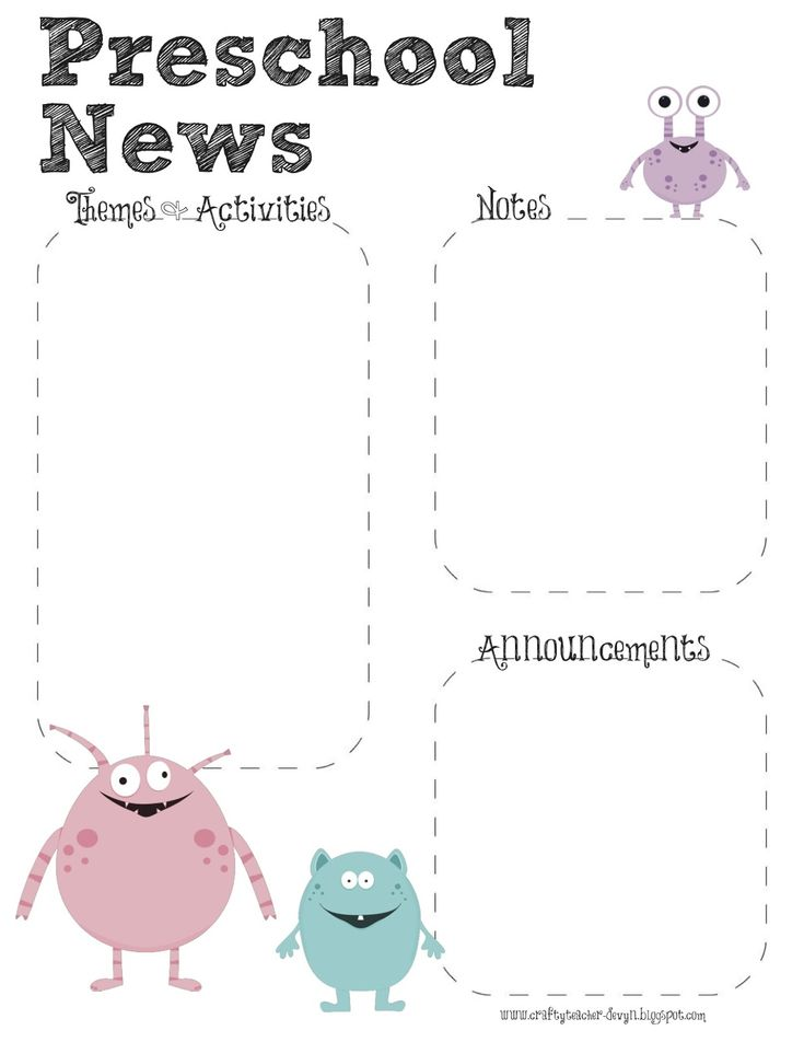 17 Best ideas about Preschool Newsletter Templates on Pinterest ...