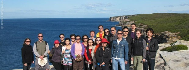 A group of Chinese travel agents discover Royal National Park with Royal Coast Walks