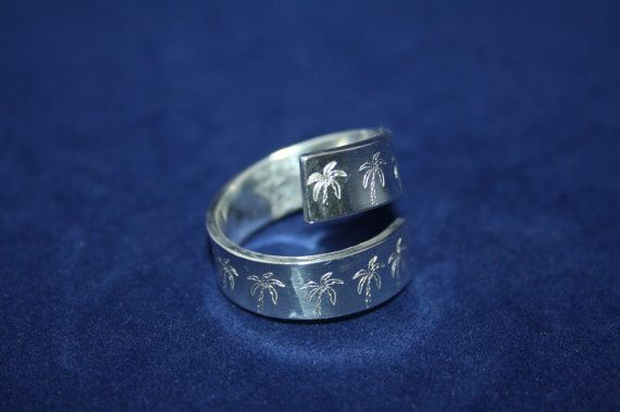 Ring Silver Ring no Ring Palm Trees by ZoesEleuthera on Etsy