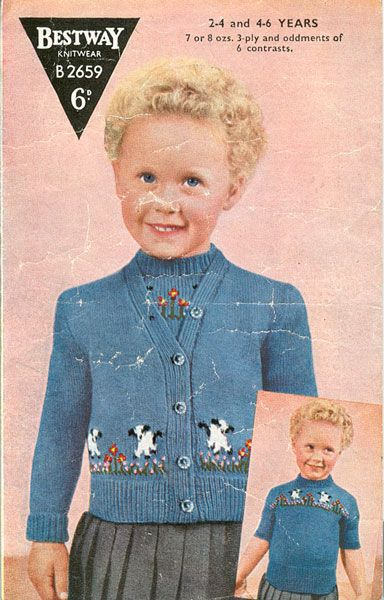 129 best Vintage knitting patterns images on Pinterest | 1940's ...