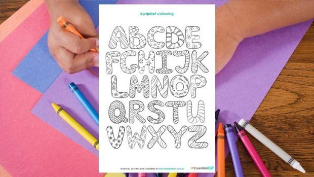 Alphabet bubble art colouring page http://www.essentialkids.com.au/activities/colouring-pages/alphabet-bubble-art-colouing-page-20151016-gkb2pa