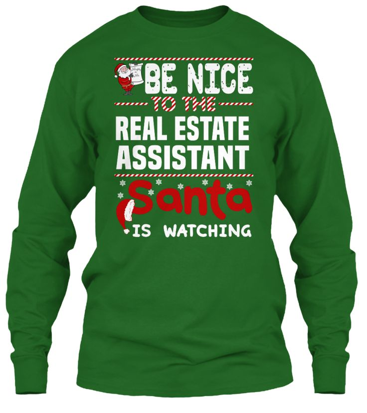 Be Nice To The Real Estate Assistant Santa Is Watching.   Ugly Sweater  Real Estate Assistant Xmas T-Shirts. If You Proud Your Job, This Shirt Makes A Great Gift For You And Your Family On Christmas.  Ugly Sweater  Real Estate Assistant, Xmas  Real Estate Assistant Shirts,  Real Estate Assistant Xmas T Shirts,  Real Estate Assistant Job Shirts,  Real Estate Assistant Tees,  Real Estate Assistant Hoodies,  Real Estate Assistant Ugly Sweaters,  Real Estate Assistant Long Sleeve,  Real Estate…
