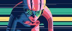 Utterly fantastic track artwork Pista by Gianluca Fallone, via Behance