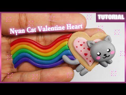 ♡ Nyan Cat Valentine Heart Polymer Clay Tutorial ♡
