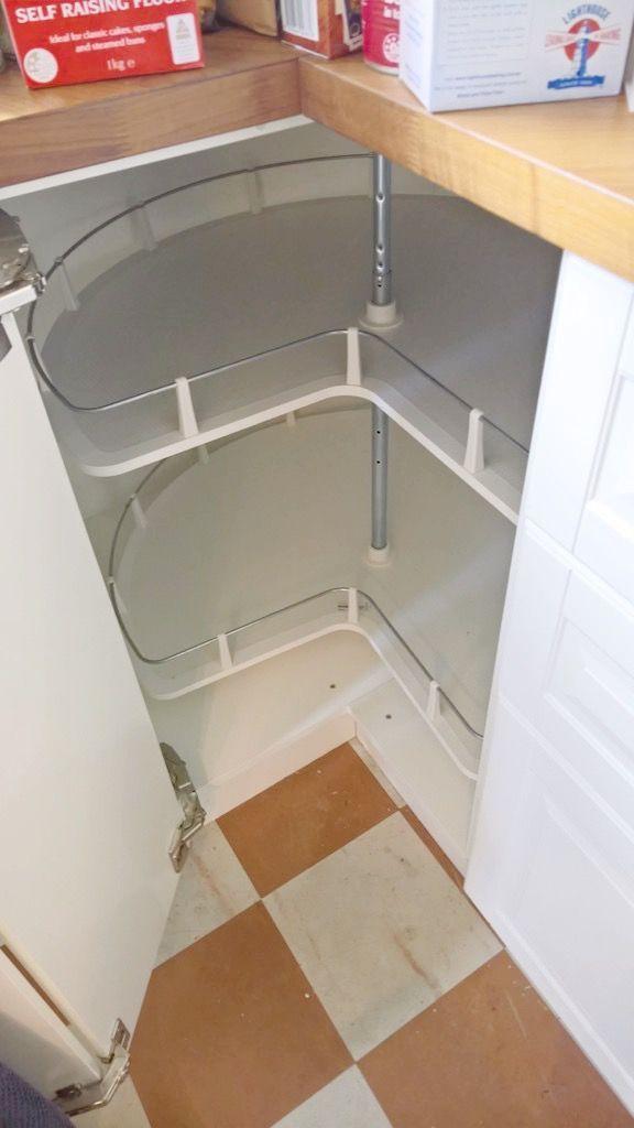 Solved 4 Instead Of 2 Tiered Corner Cabinet Carousel Ikea Hackers Ikea Corner Cabinet Corner Cabinet Corner Kitchen Cabinet