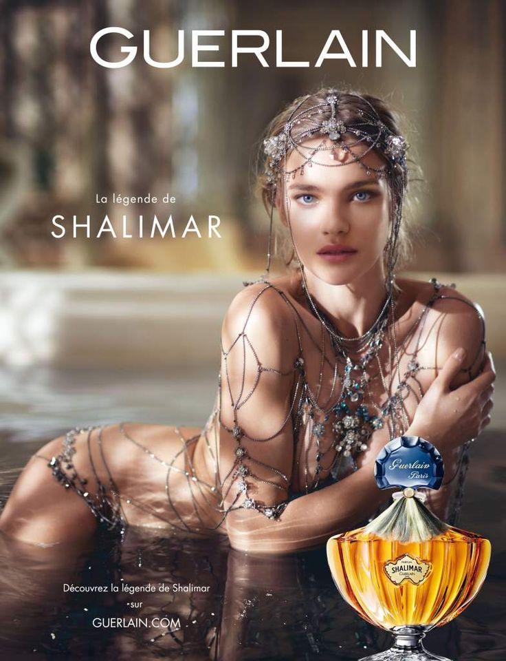"""Natalia Vodianova. Publicité """"La Légende de Shalimar"""" de Guerlain."""