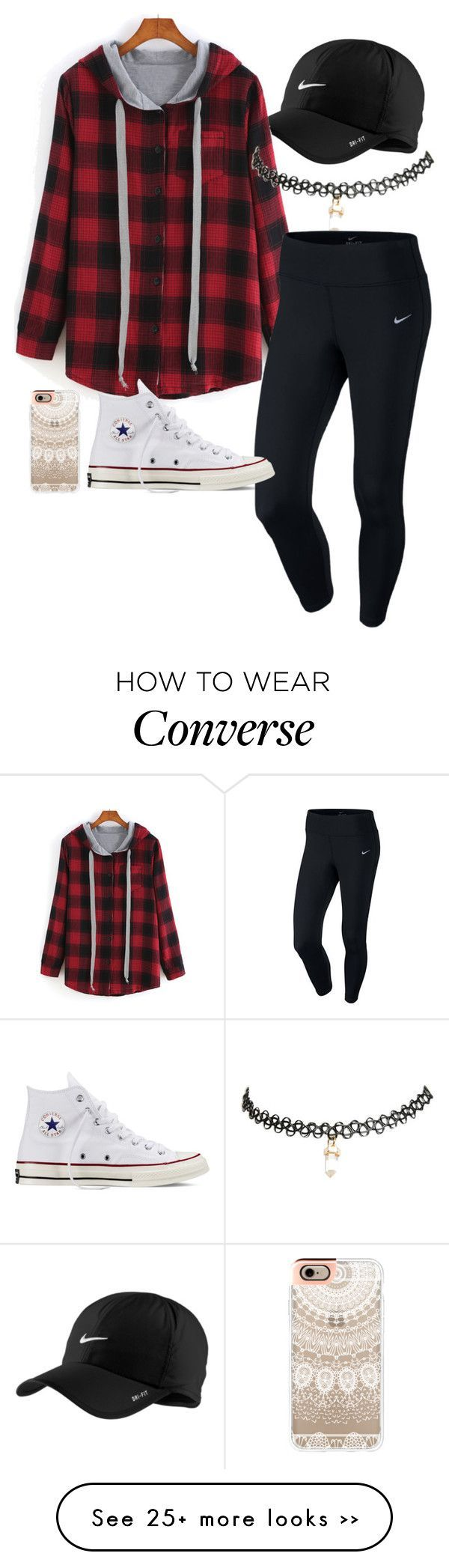 """""""Untitled #1"""" by taylorfrankhauser12 on Polyvore featuring NIKE, Wet Seal, Converse and Casetify"""