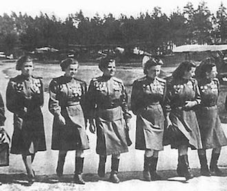 Night Witches: Night Witches were russian lady bombers in WW2. They had the oldest, noisiest, crappiest planes in the entire world. The planes were so noisy that to stop Germans from hearing them coming and starting up their anti aircraft guns, the Witches climbed to a certain height to coast down to German positions, drop their bombs, restart their engines in midair, and get back to base.