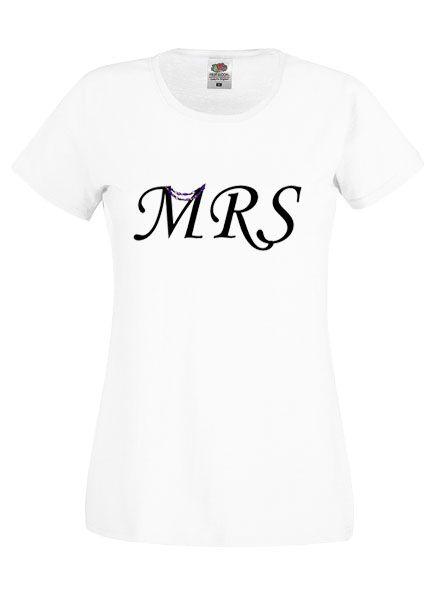 MRS feliratú női fehér póló