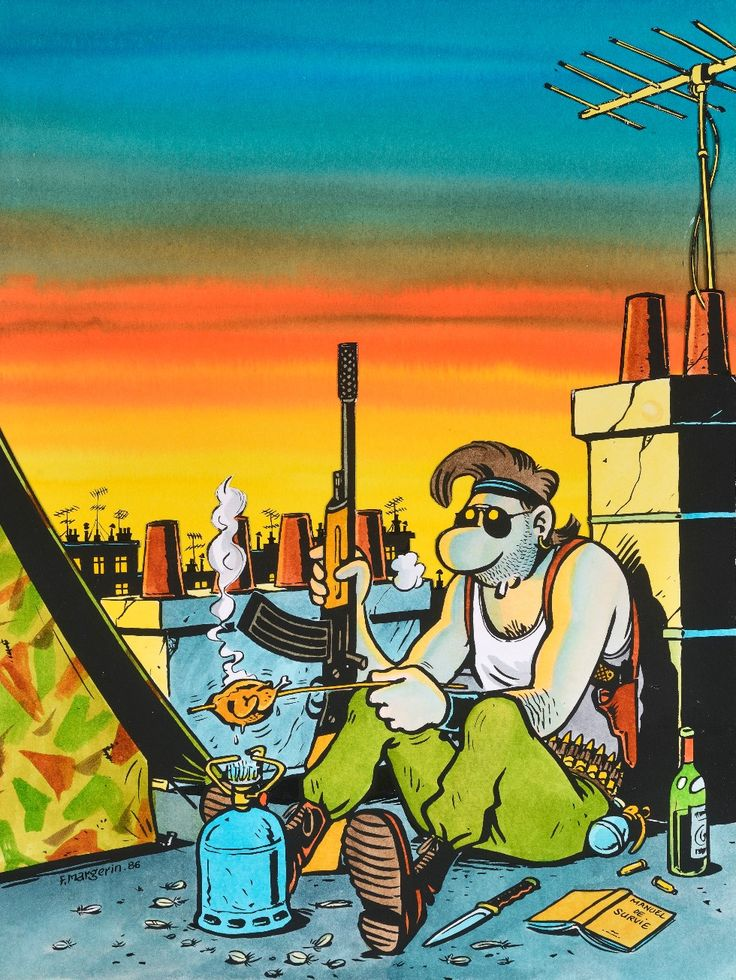 Frank Margerin. Survie en milieu urbain, 1986