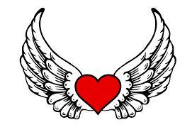 Resultado de imagen de corazones para colorear con alas