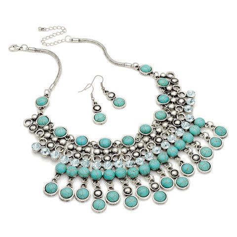 Angela Statement Necklace and Earrings