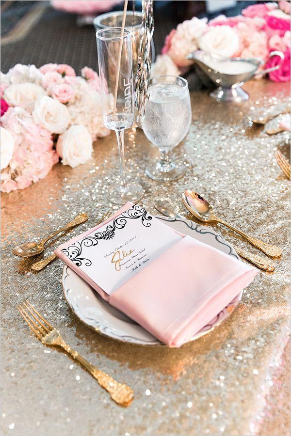 #weddingtable #receptiondecor #goldandpink @weddingchicks