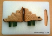 Looking for dinosaur food for kids? Dinosaur recipes for a lunch box or dinosaur party, or for everyday feeding of carnivores and herbivores? Includes our own Stegosaurus Sandwich, Baryonyx Bento and Triceratops Rice Cakes Snack recipes. This collection has lots of simple ideas to keep dino fans happy. Healthy everyday dinosaur recipes and dino treats for special occasions.