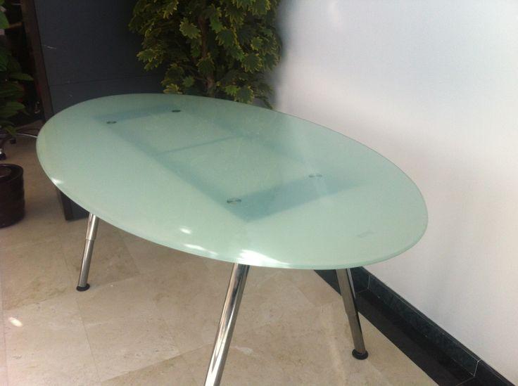 Mesa galant n tab 180x100 ovalado vidrio con patas ikea ps - Mobiliario de oficina ikea ...