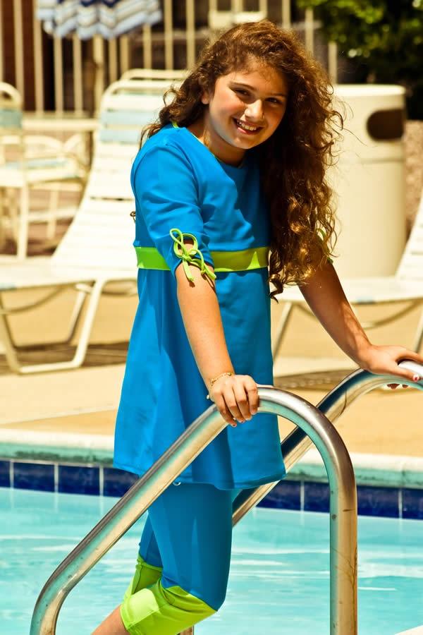 2 Piece Children S Modest Swim Suit Modest Swimwear