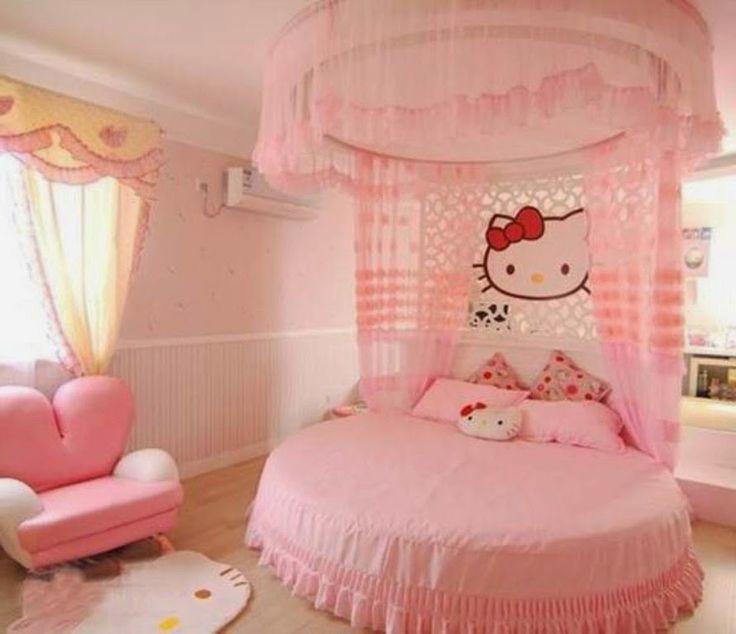 muebles y decoracin de interiores dormitorios de nias con la figura de hello kitty