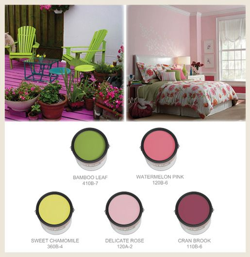 Rose pink combines well with many shades of green and