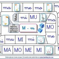 Juegos de la Oca para aprender a leer sílabas directas con la letra M