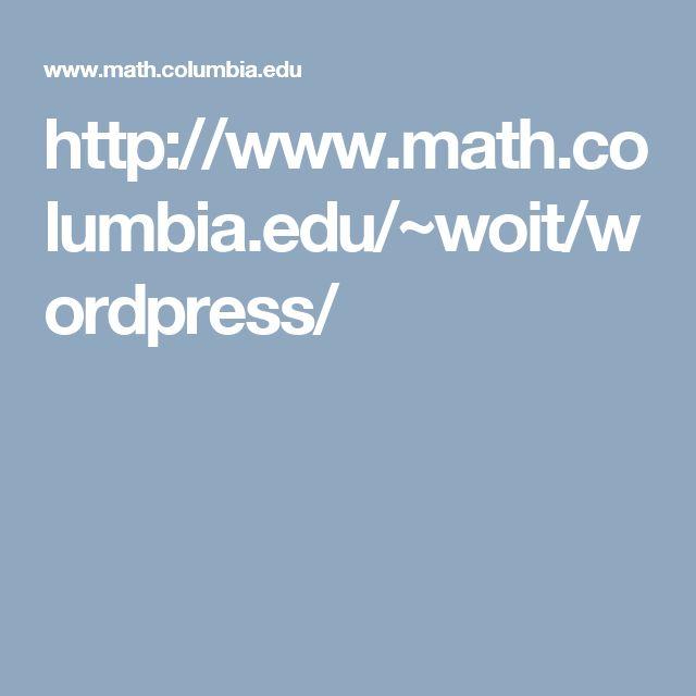 http://www.math.columbia.edu/~woit/wordpress/