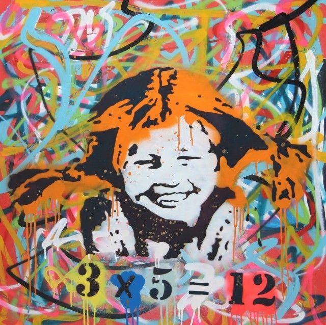 Graffiti Pippi - Limiterad upplaga - Artprint 50x50 - TAVLOR & POSTERS