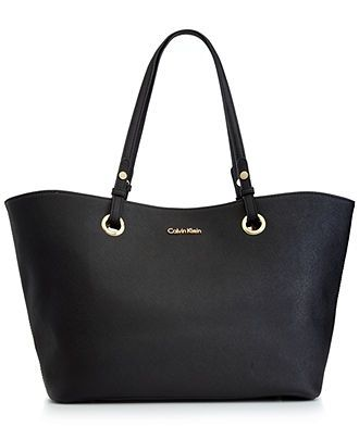Calvin Klein Handbag, Key Item Saffiano Leather Tote - Tote Bags - Handbags & Accessories - Macy's