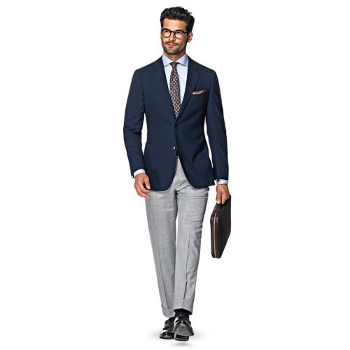 http://chicerman.com  suitsupply:  Whether you bring it along in your bag or wear it during your journey this navy Havana jacket  cut from pure Cerruti Traveller wool  makes an excellent and highly adaptable option thats made for effortless pairing. http://suitsupp.ly/1UdeIhX  #menshoes