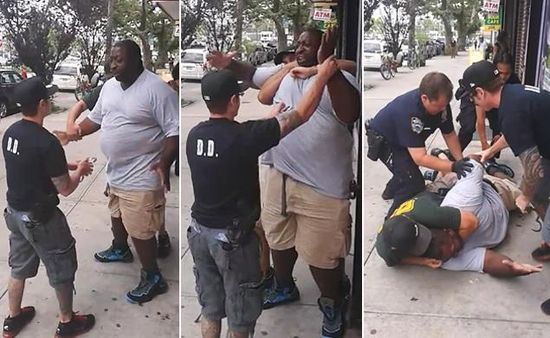 """We've all seen the video of Eric Garner being taken down and eventually choked to death. We've seen the frame-by-frame shots, there was even a second video from a different angle. Eric Garner died by strangulation, he was choked to death. That is not in dispute. EXCEPT the officer that killed Eric has now publicly denied ever choking him. He had the nerve, he had to gall to literally say and I quote """"He said he never exerted any pressure on the windpipe and never intended to injure Mr…"""