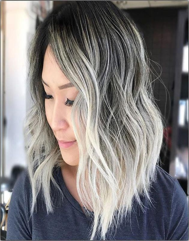 Most Awesome White Blond With Dark Rooted and Ashy Ideas Volume #brownhair