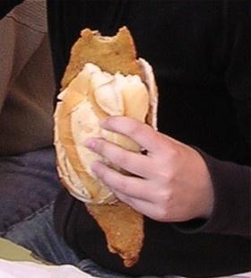 sandwich de milanesa #Argentina !! lo mas rico del mundo!!