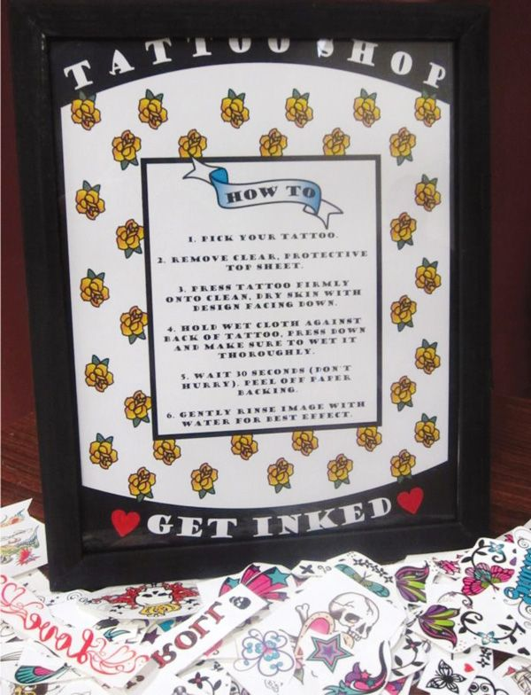 tattoo-baby-shower... cute idea/blog for the theme (maybe a different background?)