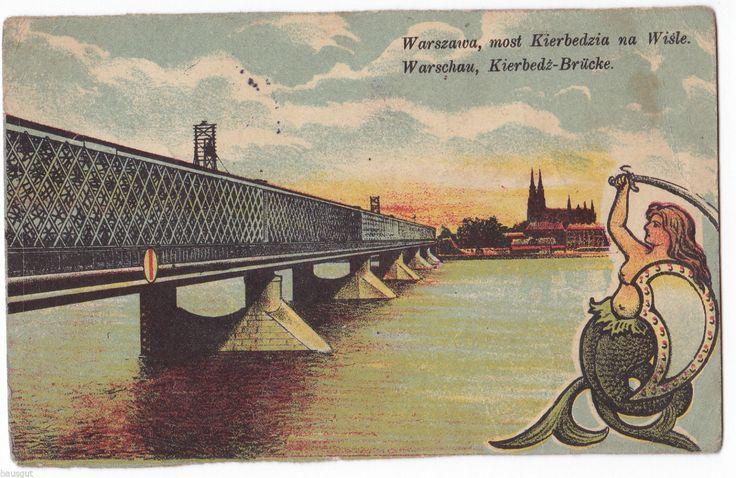 Warszawa most Kierbedzia na Wisle Kierbedz Brücke Warschau 1917 AK Feldpost | eBay