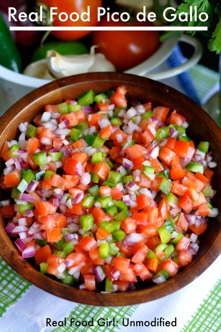 Real Food Pico de Gallo by Real Food Girl: Unmodified. A fresh, bright, basic salsa recipe.