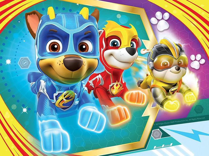 Ravensburger Paw Patrol Mighty Pups 4 In A Box Jigsaw Puzzles Paw Patrol Paw Patrol Super Pup Paw Patrol Coloring Pages