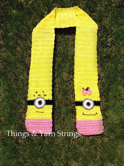 Crochet Minion Scarf Girl Free Pattern