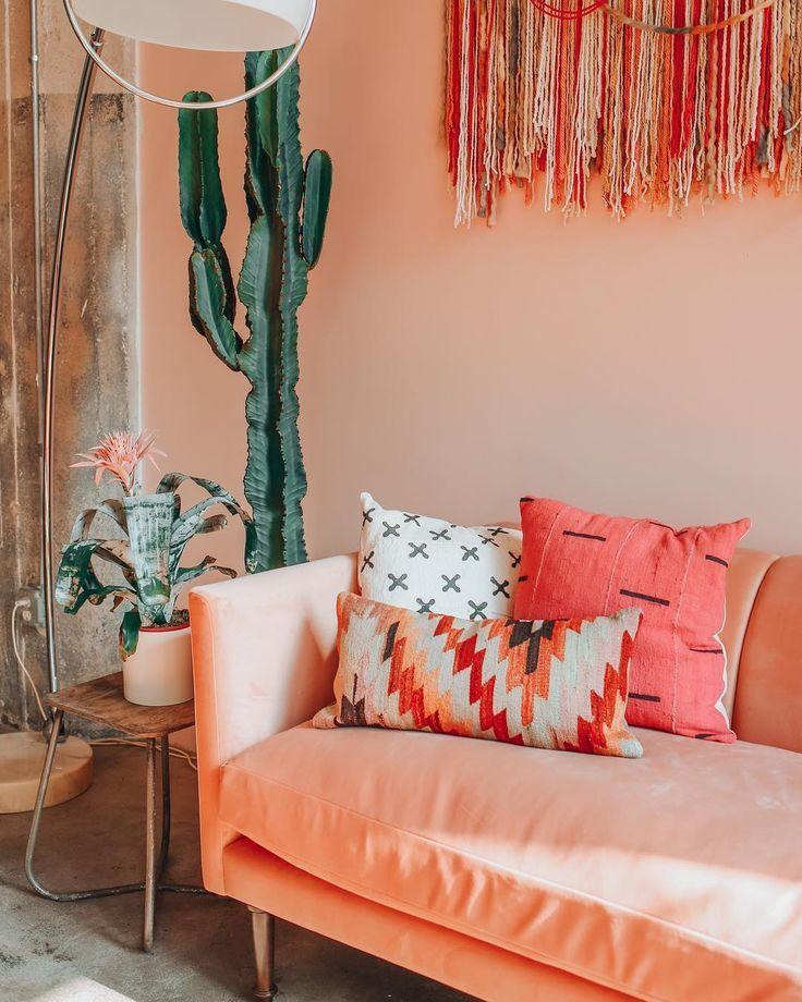 10+ Top Peach Living Room Ideas