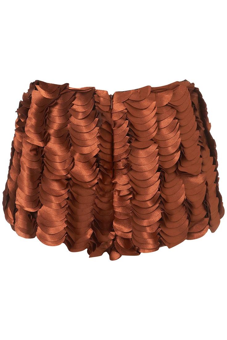 Rust Petal Shorts by Unique at Topshop