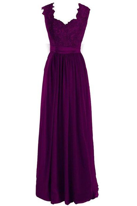 Singmo V Neck Long Formal Bridesmaid Dress Lace Prom Evening Dress 18W Deep Purple