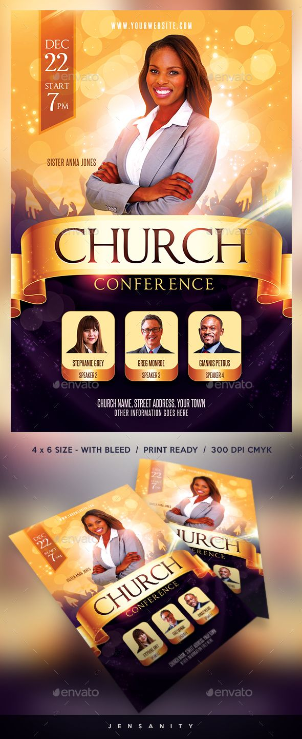 Church Flyer Background Template