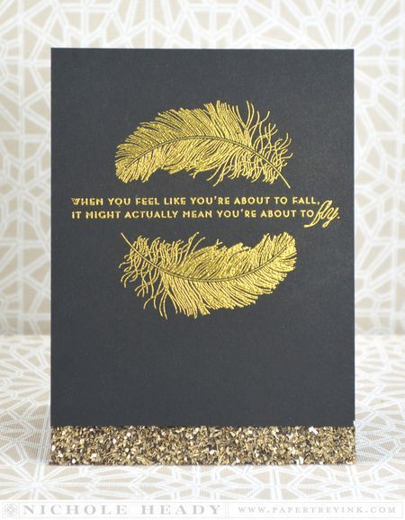 Fly Away Card by Nichole Heady for Papertrey Ink (January 2014)