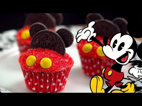 Mickey Mouse Cupcakes | Dishes by Disney - YouTube