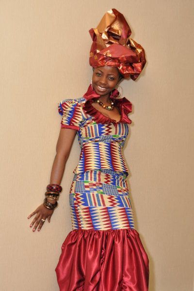 Ghana costume ~African fashion, Ankara, kitenge, African women dresses, African prints, African men's fashion, Nigerian style, Ghanaian fashion ~DKK