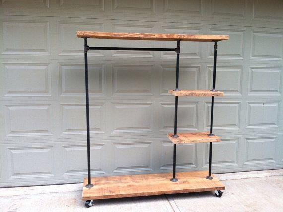 Industrial Display Rack by TylerKingstonWoodCo on Etsy, $565.00