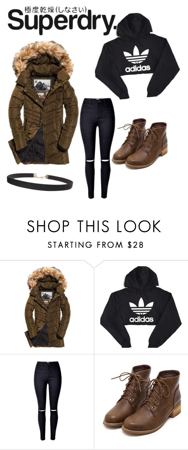 """""""Jackets by Superdry: Outfit for cold days"""" by ali282 ❤ liked on Polyvore featuring Superdry, adidas and Humble Chic"""