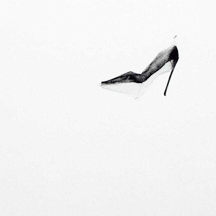 The heel. Watercolor on paper.