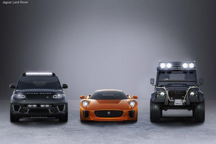 24-й по счету фильм о приключениях Джеймса Бонда, получивший название «Спектр», вновь украсят британские автомобили. В списке «киногероев» – экспериментальное купе Jaguar C-X75, а также два внедорожника – Range Rover Sport SVR и Land Rover Defender Big Foot. Все три автомобиля созданы мастерами фирменного тюнингового подразделения Jaguar Land Rover Special Operations – SVR.