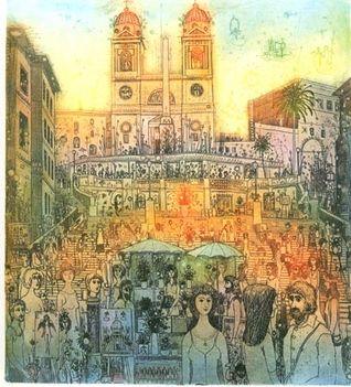 Gross Arnold, Róma, Spanyol lépcső