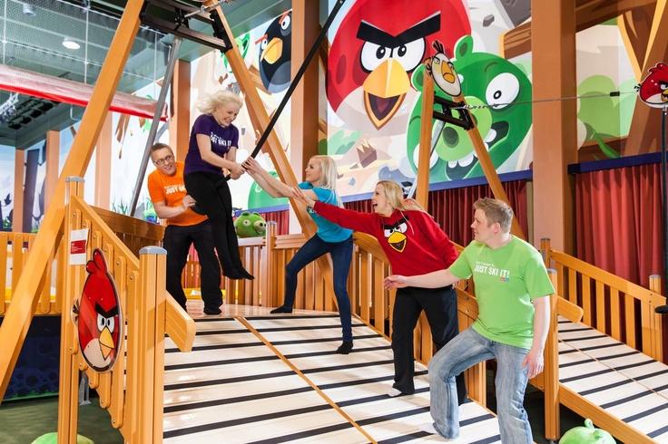 Team spirit at Angry Birds Activity Park in Kuusamon Tropiikki