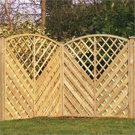 Let the sun shine in with Walton's Trellis Fence Panels... #fencepanels #DIY #Sun